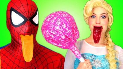 Spiderman & Frozen Elsa w  Doctor! With Pink Spidergirl and Joker. Superhero Fun in Real Life  )