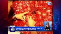 Un camión que transportaba cebollas fue decomisado en Guayaquil