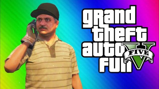GTA 5 Funny Moments 4 - Doughnuts, Carlos, Angry People, Blimp Vs. Train, Jesus (GTA 5 Gameplay)