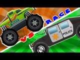 Monster Truck VS police Hummer | Stunts And Action