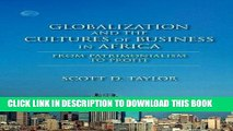 Best Seller Globalization and the Cultures of Business in Africa: From Patrimonialism to Profit