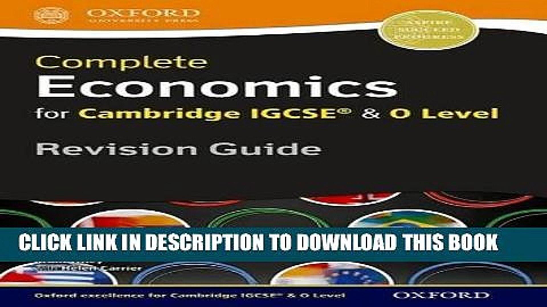 Ebook Economics for Cambridge IGCSERG and O Level Revision Guide (Igcse O  Level Revision Guide)