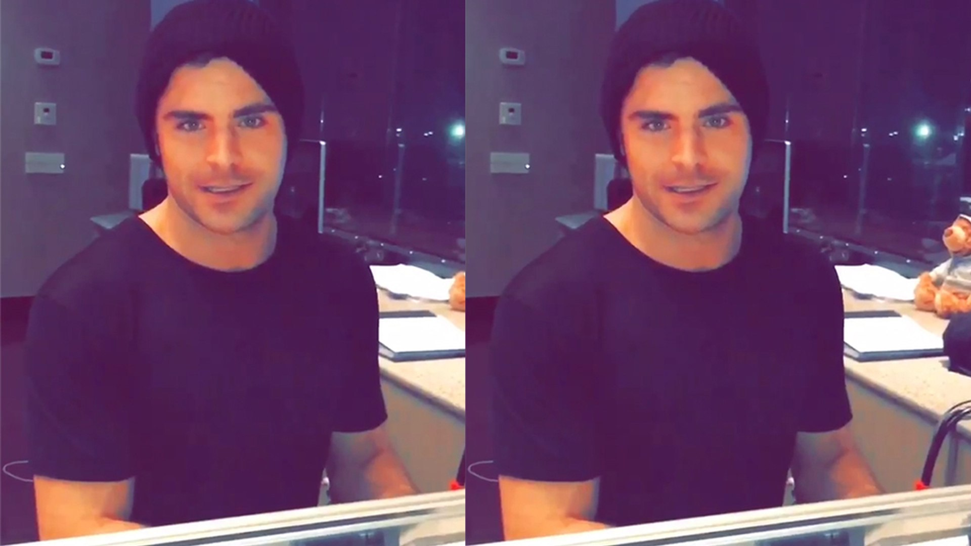 Zac Efron Sings 'Happy Birthday' To Adam Devine and Plays Piano