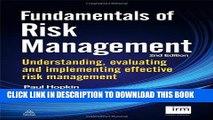 Ebook Fundamentals of Risk Management: Understanding, Evaluating and Implementing Effective Risk