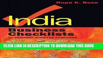 [FREE] EBOOK India Business Checklists: An Essential Guide to Doing Business BEST COLLECTION
