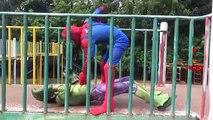 Battle Hulk Vs Batman Vs Spiderman Fight Videos For Children | SuperHero Real Life Fight And Battles
