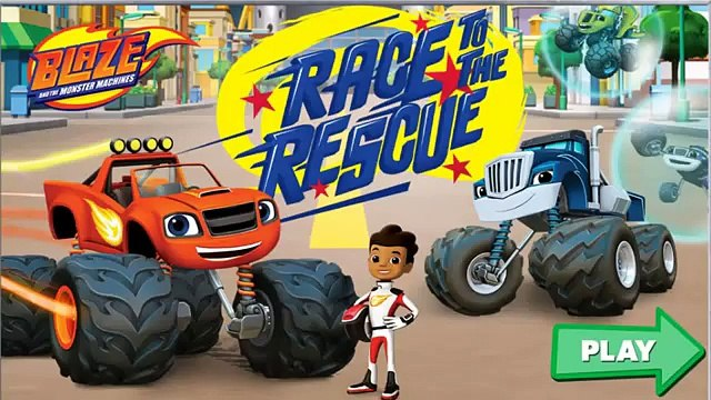 Blaze Race To The Rescue - Blaze And Monster Machines Cartoon - Children Games To Play