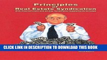 [FREE] EBOOK Principles of Real Estate Syndication: With Entertainment and Oil-Gas Syndication