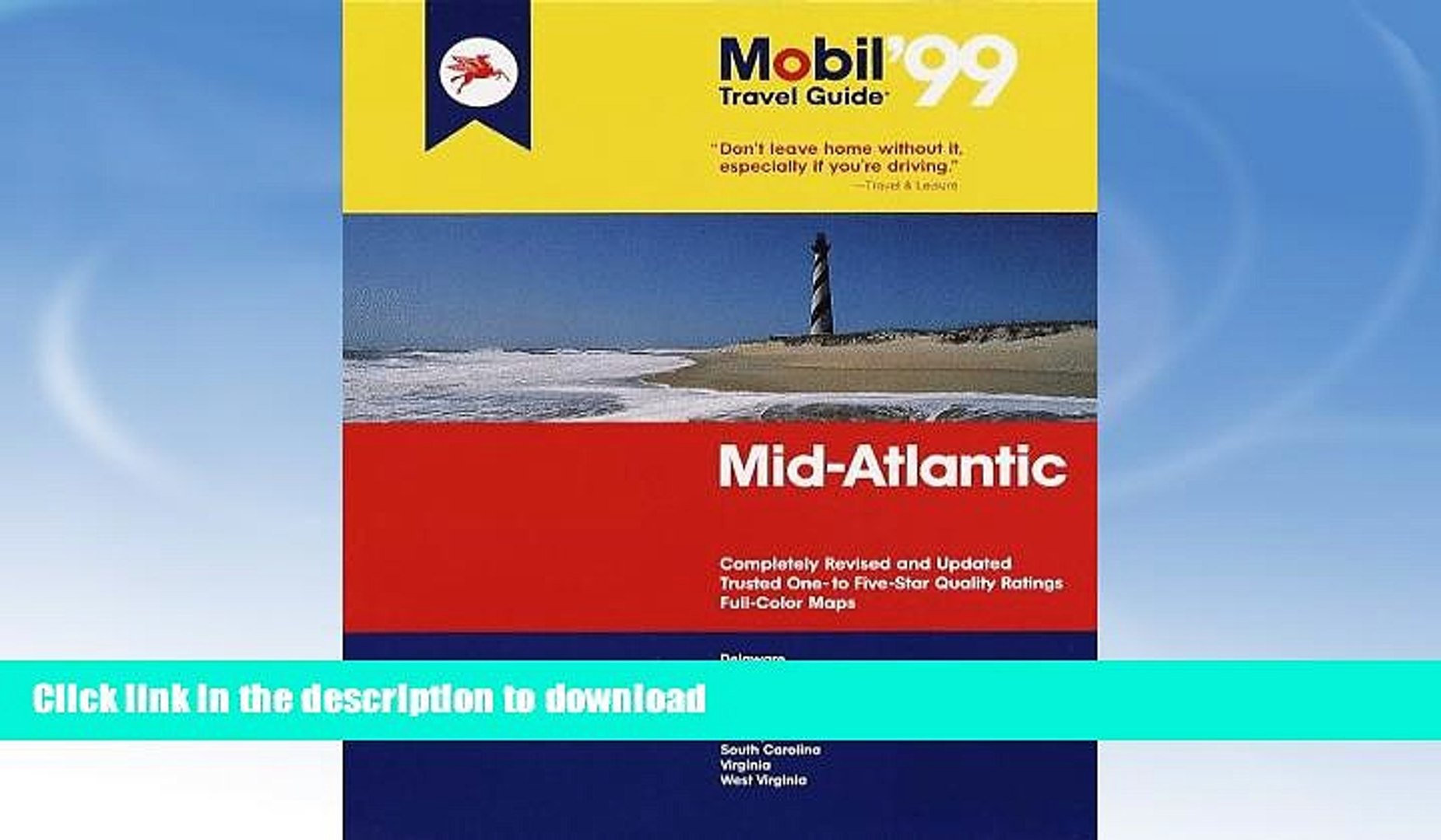 FAVORITE BOOK  Mobil 99: Mid-Atlantic (Mobil Travel Guide Mid-Atlantic (Dc, De, MD, Nj, Pa, Va,