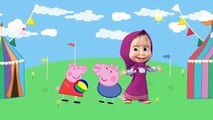 #Peppa pig #Crying Character Parody #Masha and The Bear #Action Funny Cartoon #Finger family lyric