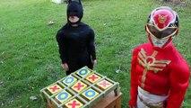 Catwoman Vs Batman Vs Red Power Ranger | Tic-Tac-Toe | Real Life Kid Superhero Battle