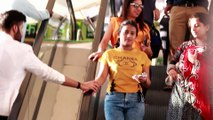 Touching Strangers Hands On The Escalator   Prank In India