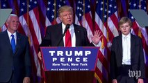 Donald Trump's victory speech, in less than three minutes