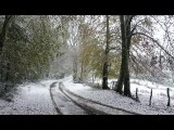 Neige à Roussillon-en-Morvan