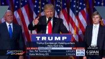 Les premiers mots de Donald Trump, élu président des États-Unis