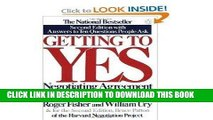 [PDF] FREE Getting To Yes - Negotiating Agreement Without Giving In, Second Edition with Answers