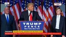 Donald Trump élu président des Etats-Unis - Regardez son premier discours