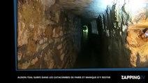 Alison Teal surfe dans les catacombes de Paris et manque d'y rester