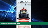 Ebook Best Deals  Maine Lighthouses Illustrated Map   Guide  Most Wanted