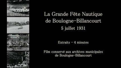 La Grande Fête Nautique - 1931 - Extraits