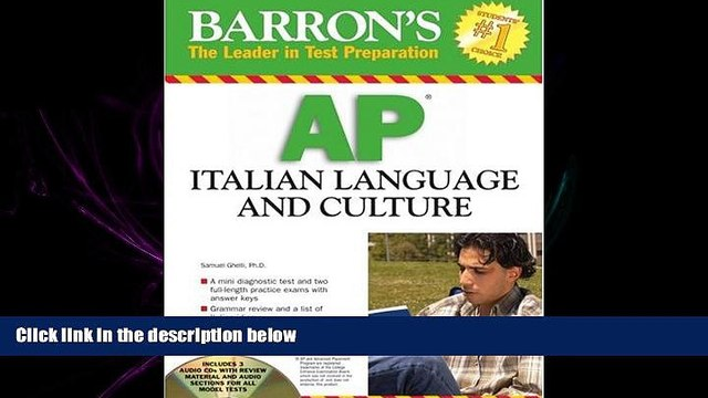 READ book  Barron s AP Italian Language and Culture: with Audio CDs  FREE BOOOK ONLINE