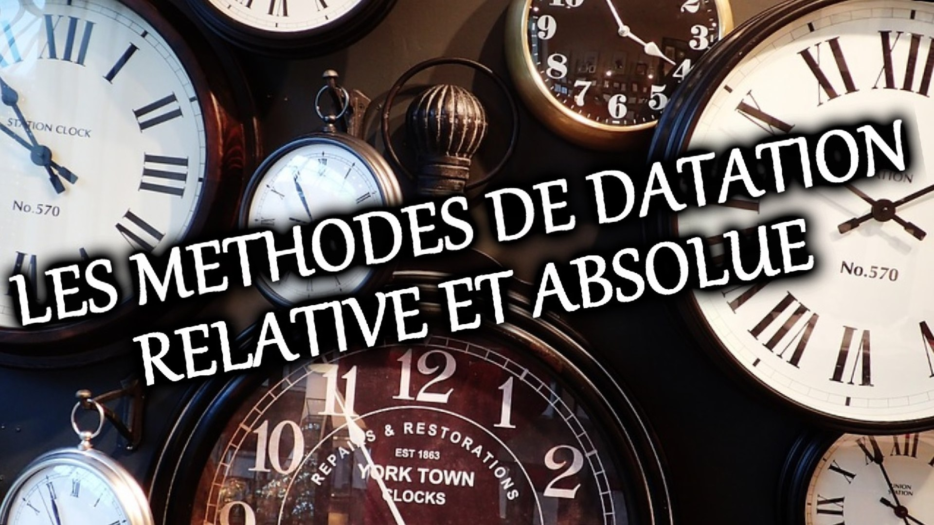 méthodes de datation absolues