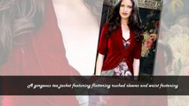 Lilliana Deep Red Velvet Jacket | Cover Ups & Jackets | Clothing | Lux-Fix.com