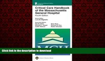 Read book  Critical Care Handbook of the Massachusetts General Hospital: Formerly known as