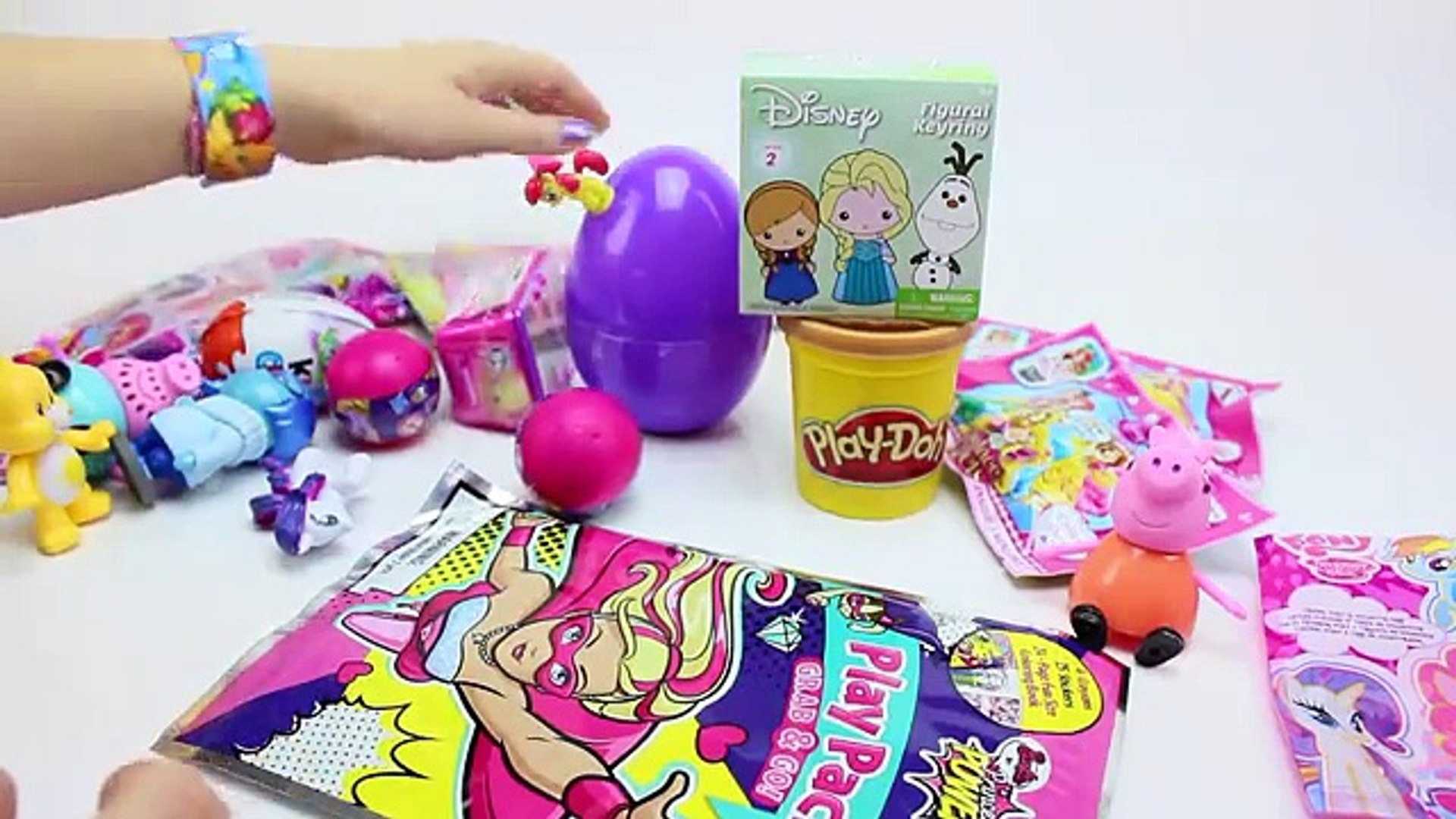 GIANT PEPPA PIG and GEORGE Play Doh SURPRISE Egg Meet Real Life PEPA INSIDE OUT Squishy POPs MLP