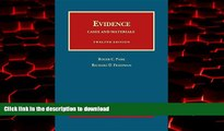 liberty books  Evidence, Cases and Materials (University Casebook Series) online