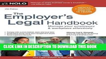 [FREE] EBOOK Employer s Legal Handbook, The: Manage Your Employees   Workplace Effectively BEST