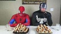 Fat Spiderman vs Fat Venom Real Life Hot Dog Eating Contest Superhero Movie