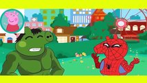 Peppa Pig Crying Lollipop Eat Spiderman VS Hulk vs Venom Finger Family Nursery Rhymes Lyrics Parody