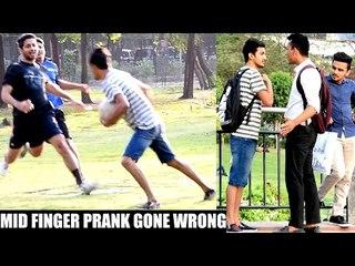 Showing Middle Finger Prank in INDIA(Gone Wrong) | AVRprankTV