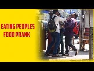 EATING PEOPLES FOOD PRANK In India (fouseyTUBE) - iDiOTUBE