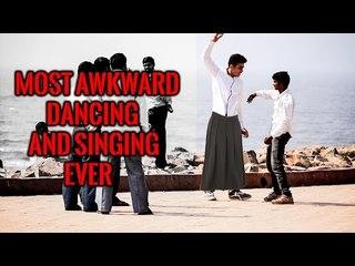 Awkward Dancing & Singing Prank In India  - iDiOTUBE