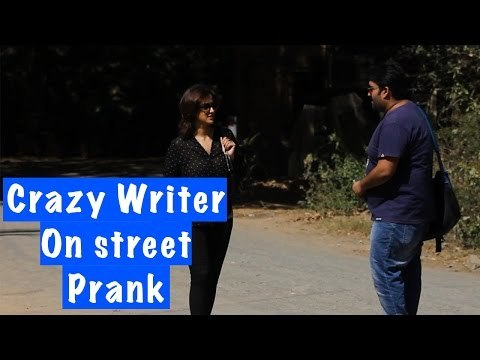WARNING! Crazy Writer On Street Prank - S.T.F.U. 18