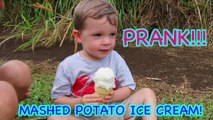 Ice Cream PRANK You Can Do at Home MASHED POTATO ICE CREAM PRANK DIY How To Prank Funny April Fools