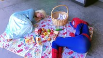 Frozen Elsa & Spiderman vs Evil Joker Funny Dog Prank Fun Superhero Movie In Real Life In 4K! :)