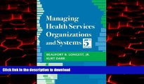 Buy books  Managing Health Services Organizations and Systems