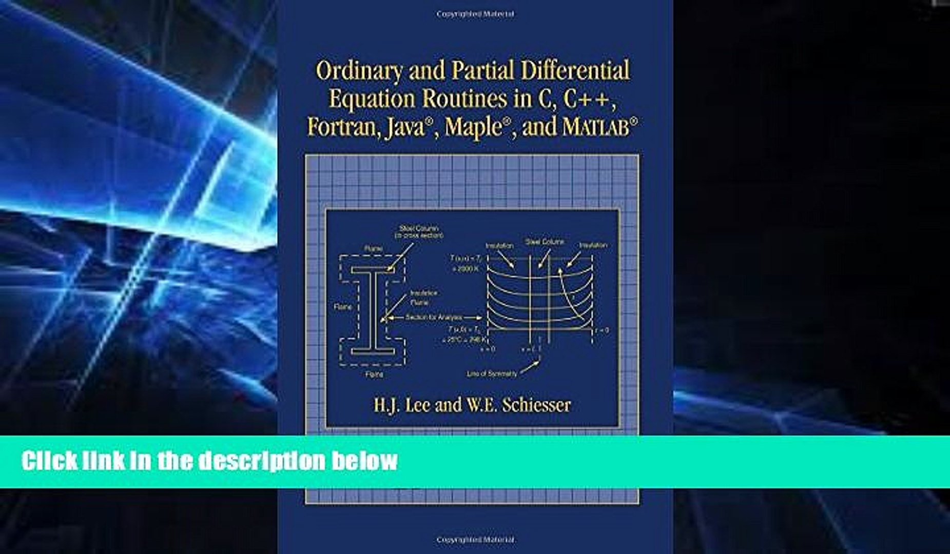 READ FULL Ordinary and Partial Differential Equation Routines in C, C++,  Fortran, Java, Maple,