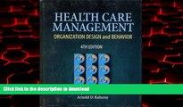 Buy books  Health Care Management: Organization Design   Behavior (Delmar Series in Health