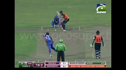 Shahid Afridi 4 wickets against Khulna Titans in BPL 2016