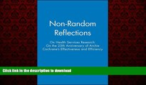 Buy books  Non-Random Reflections: On Health Services Research: On the 25th Anniversary of Archie