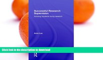 READ  Successful Research Supervision: Advising students doing research FULL ONLINE