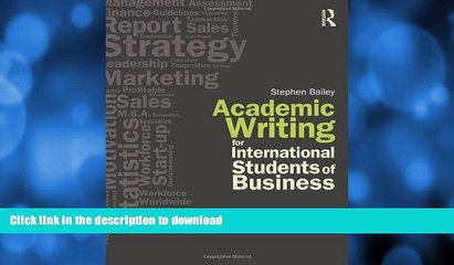 READ  Academic Writing for International Students of Business FULL ONLINE