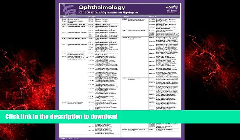 Best book  ICD-10 Mappings 2015 Express Reference Coding Card: Ophthalmology online to buy