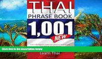 Deals in Books  Thai Phrasebook: 1,001 Thai Phrases, Learn Thai Language Quick and Easy,  Thai