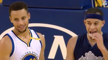 Steph Curry BURNS Seth Curry with Long 3 Pointer In His Face