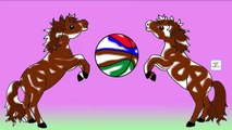Horse Colours Songs Collection | Learning Colours With Horse And Ball For Children Rhymes and Songs